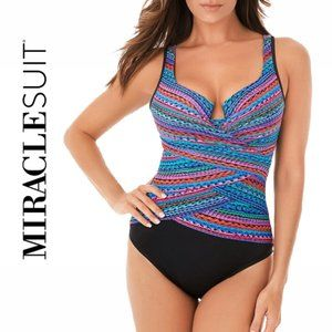 Miraclesuit Carnivale Escape Tum Control Swimsuit